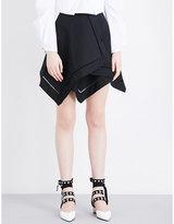 J.W.Anderson Handkerchief cotton-poplin mini skirt