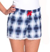 Babella 3089 women's patterned checked pyjama shorts with