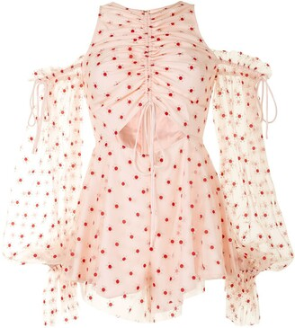 Alice McCall Transparent-Detail Floral-Print Playsuit