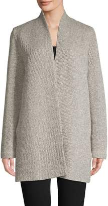 Eileen Fisher Open-Front Organic Cotton Cardigan