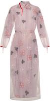 Simone Rocha Spooky flower-embroidered long-sleeved dress