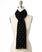 Ann Taylor Graphic Dots Luxe Wool Scarf