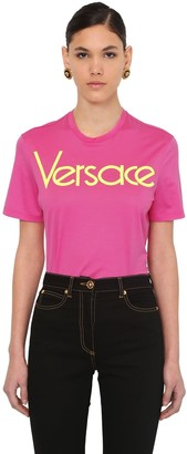 Versace Embroidered 80's Logo Jersey T-shirt