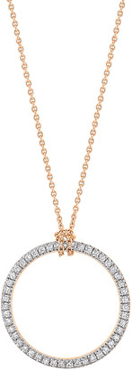 ginette_ny Mini Diamond Circle on Chain Necklace - Rose Gold