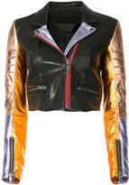 Haider Ackermann biker jacket - women - Cotton/Leather/Rayon - 36