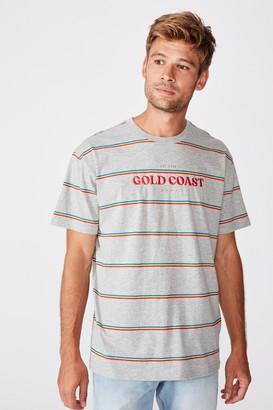 Afl Mens Stripe Logo T-Shirt