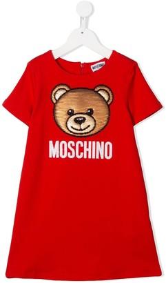 MOSCHINO BAMBINO Sequin-Teddy Dress