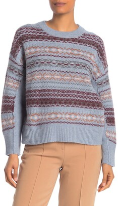 360 Cashmere Cassidy Fair Isle Pullover Wool & Cashmere Blend Sweater