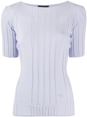 Emporio Armani striped fitted T-shirt