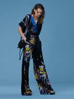 Diane von Furstenberg Short-Sleeve Wrap-Style Jumpsuit