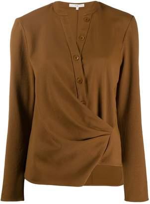 Tibi draped front shirt