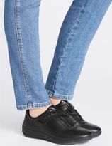 Marks and Spencer Leather Wedge Heel Sporty Riptape Trainers