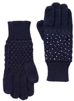 Sayami Rhinestone Knit Gloves