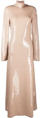 Bottega Veneta Sequin-Embellished Open-Back Dress
