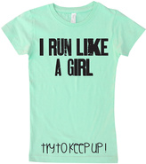 Micro Me Mint 'Run Like a Girl' Fitted Tee - Toddler & Girls