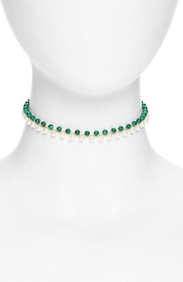 Argentovivo Beaded Choker Necklace