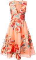 Lela Rose floral cocktail dress - women - Silk/Polyamide/Polyester - 4