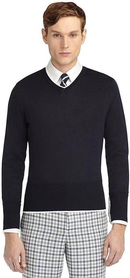Brooks Brothers Color-Block Sweater