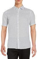 Michael Kors Printed Linen Sportshirt