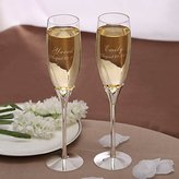BST Weddings Reception BST Wedding Reception Personalized Hollow Hearts Toasting Flutes (Set of 2)