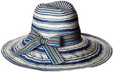 Physician Endorsed Women's Sanibel Two-Tone Packable Fedora with Stripe Ribbon
