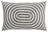 "Thomas Paul Seedling By Aviary Oval Stripe Pillow Cover 14""X20"" - BlackandWhite"