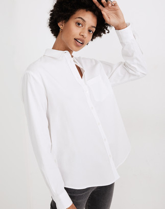 Madewell Side-Button Oversized Ex-Boyfriend Shirt
