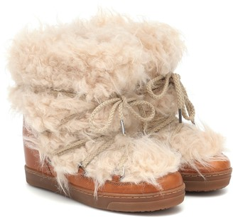 Isabel Marant Nowles faux-shearling snow boots