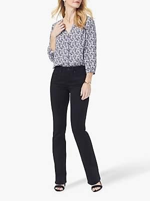 NYDJ Barbara Bootcut Jeans, Black