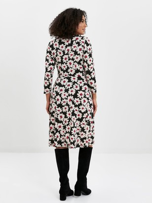 Evans Daisy Wrap Dress - Print