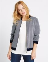 Marks and Spencer PETITE Checked Bomber Jacket