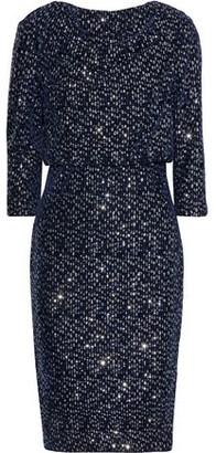 Badgley Mischka Sequined Velvet Dress