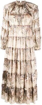 Zimmermann Printed Ruffle Dress