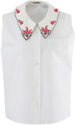 Miu Miu Embroidered shirt