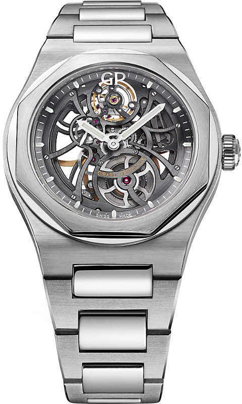 Girard Perregaux Girard-Perregaux 810151100111A Laureato Skeleton stainless steel watch