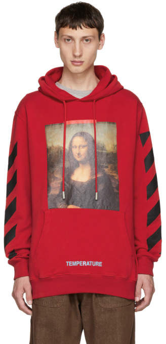 Off-White Off White SSENSE Exclusive Red Monalisa Hoodie