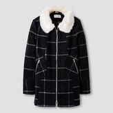 CoffeeShop Kids Girls' Faux Wool Fashion Jacket - Navy Plaid