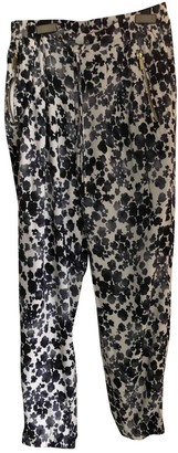 Michael Kors Blue Viscose Trousers
