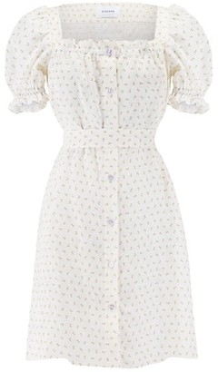 Sleeper Brigette Floral Linen Dress