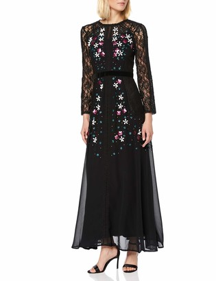 Frock and Frill Women's Harolyn Long Sleeve Lace Embellished Maxi Dress Party