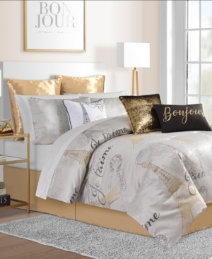 Sunham Je T'aime Paris 14-Pc. Queen Comforter Set Bedding