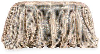 Benedetta Bruzziches Venus La Grande Clutch Bag in Light Golden Iridescent Crystals