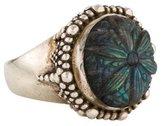 Stephen Dweck Carved Labradorite Cocktail Ring