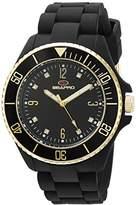 Seapro Women's SP7410 Bubble Analog Display Swiss Quartz Black Watch