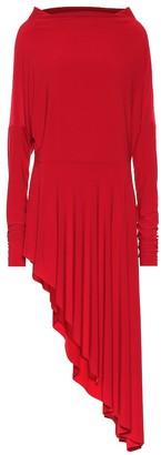 Norma Kamali Asymmetric stretch-jersey dress