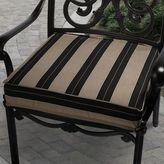 Mozaic Sunbrella 20-in. Striped Brown Black Outdoor Chair Cushion