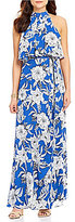 Lovers + Friends Golden Ray Floral Sleeveless Maxi Dress