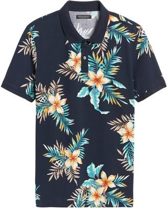 Banana Republic Don't-Sweat-It Floral Polo Shirt