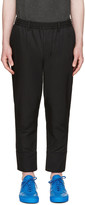 Undecorated Man Black Twill Piped Trousers