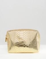 Asos Metallic Snake Make Up Bag